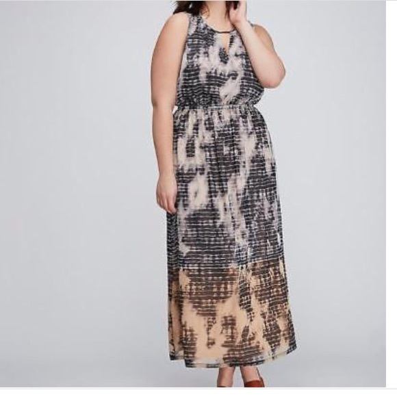 10226dc9084 Lane Bryant plus 26 28 tie dye Ombré dress